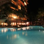 1 of the 2 pools by night
