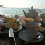 Breakfast at the ocean
