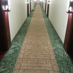 Charming 'yellow brick road' to your room.
