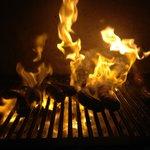 Carne al fuego