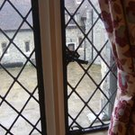 View from Earl of Winchelsea Room into front courtyard