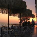 tramonto sulla veranda del Bar