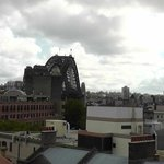 View of Sydney Bridge from rooftop