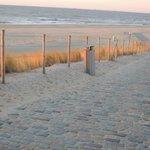 beach walk in march