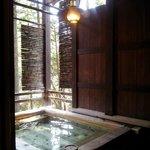 Wooden onsen, amazing