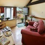 Burys cCttage open plan lounge/kitchen/dining area