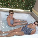 Our great Jacuzzi, a lifesaver on a very hot day