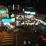 The night markets from the room.