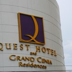 Quest Hotel front view during the late afternoon.