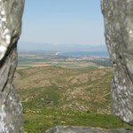 View through stone window