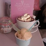 Salted caramel ice cream and luxe hot choc, yum!