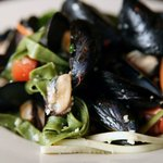 Add pasta to our PEI steamed mussels with your choice of sauce. They are delicious!