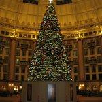 West Baden Hotel Atrium at Christmas