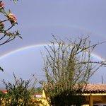 Arco iris em um dia de chuva