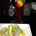 Shrimp Ceviche with Passion Fruit Margarita