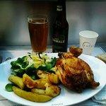 Mezzo pollo con patate e birra Normale
