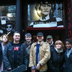 Me & Sons O' The Soil band pic outside Solid Rock