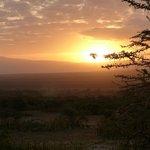 sunrise with Ngorngoro crater