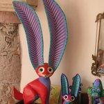 Oaxacan painted wooden animals