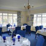 Tasty blue dining room