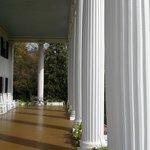 Grand columns on portico