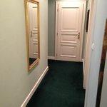 couloir d'entré de la chambre de luxe
