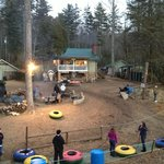 The grounds minus snow on the last weekend of season