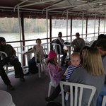On board the Riverboat replica