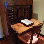 writing desk lower floor of room