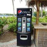 Getränkeautomat am Bootsanleger