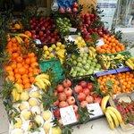 plenty of fresh fruit on the island