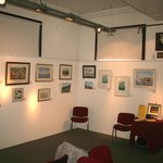 One corner of the downstairs exhibition room.