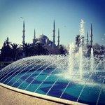 голубая мечеть в двух шагах от отеля)