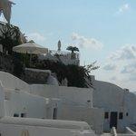 Vista general del Hotel desde las píscinas y jacuzzis
