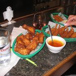 Crispy Fried Chicken Wings, so many wings and so delicious $6.95.  Along with
