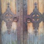Detail of the wooden doors