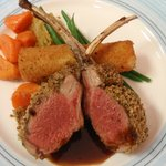 Dijon Crusted Rack of Lamb Merlot Glace De Viande
