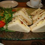 Our sandwiches which were delicious.