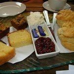 Our cake and scones.
