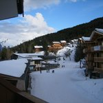 Looking left from our room, the ski lift is in the foregound