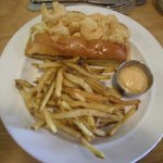 Shrimp Poo boy and fries