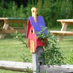 Bird House in the yard at the Aerie