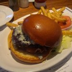 Burger w/ Bleu Cheese and Bacon