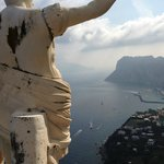 Caesar Augustus overlooking the harbor
