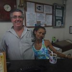 Front Desk Clerk Manuel and girl in charge of the breakfast room