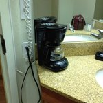 Ill-placed coffee machine