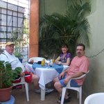 That's me with my compadres, Jayne and Tony. Tony is on the