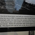 Description of the observatory in the West Highland Museum