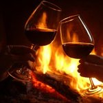 Wine by the fireside