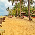 The beach at Mai House Resort